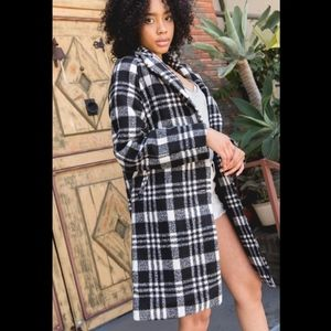Plaid Checks Winter Coat